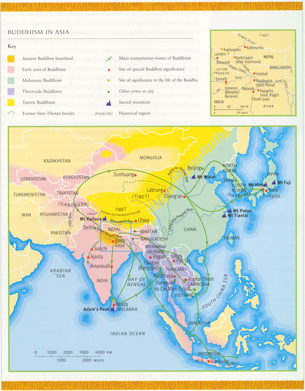 Buddhism Map India Map of Buddhism in Asia Click